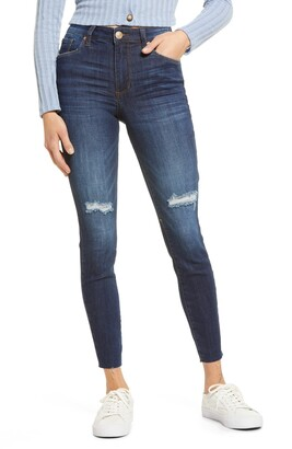 STS Blue Ellie High Rise Raw Hem Ankle Jeans