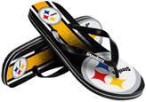 Forever Collectibles Pittsburgh Steelers Gradient Big Logo Flip Flops