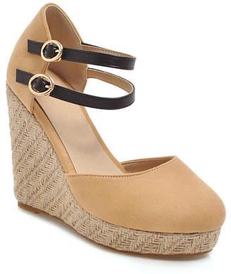 BUTITI Women's Sandals apricot - Apricot Double Ankle-Strap Espadrille - Women