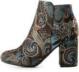 Charlotte Russe Bamboo Floral Brocade Ankle Booties