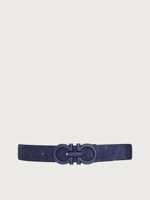 Salvatore Ferragamo Men Adjustable Gancini belt Blue