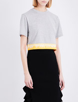 Opening Ceremony Cropped cotton-jersey T-shirt