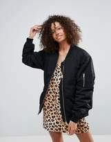 Monki Oversized Bomber Jacket