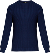 A.P.C. Crew-neck cotton and linen-blend sweater