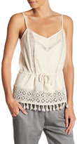 French Connection Lace Strappy Tassel Hem Tank
