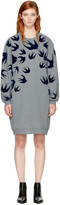 McQ by Alexander McQueen Grey Swallow Signature Sweatshirt Dress