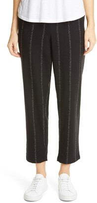 Eileen Fisher Stripe Tapered Ankle Pants