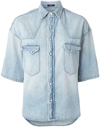 R 13 Denim 3/4 Sleeve Shirt