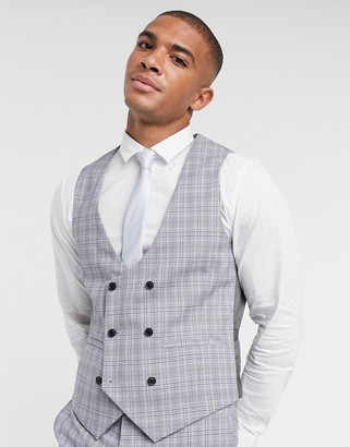 Harry Brown slim fit double breasted suit vest