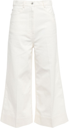 Cédric Charlier Cropped High-rise Flared Jeans