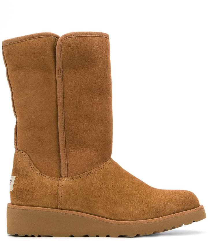 626f4ad0a73 low heel shearling boots