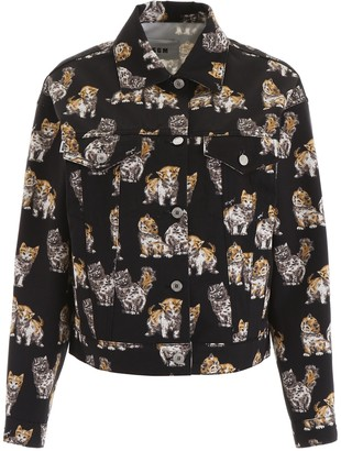 MSGM Cat Print Jacket