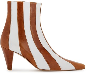 Kalda Lio 75 Striped Leather Ankle Boots