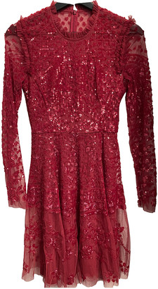 Needle & Thread Red Glitter Dresses