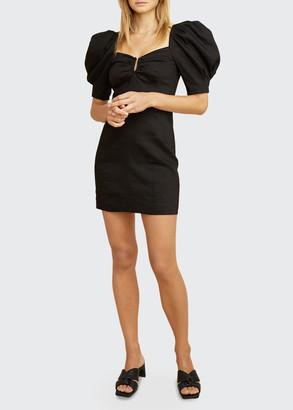 LES COYOTES DE PARIS Alya Puff-Sleeve Mini Dress