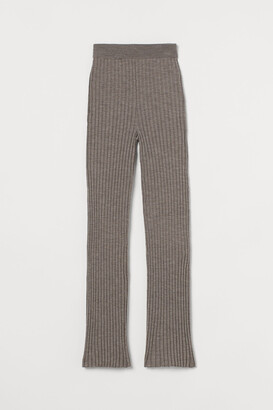 H&M Rib-knit merino wool trousers