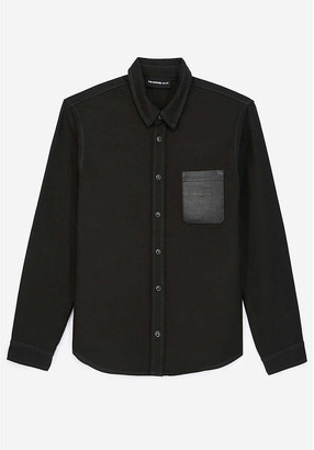 The Kooples Patch-pocket long-sleeved cotton-canvas shirt