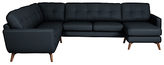 John Lewis Barbican Semi-Aniline Leather Corner End Sofa with RHF Chaise Unit