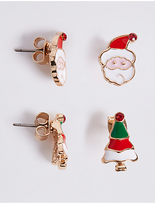 M&S Collection Santa & Tree Earrings