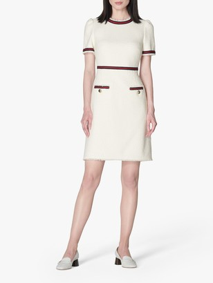 LK Bennett Leni Tailored Mini Dress, Cream