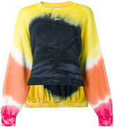 Off-White tie dye hanging cord sweatshirt - women - Cotton/Polyester - S