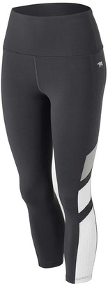 Running Bare Womens Ab Waisted Jigsaw 7/8 Tights