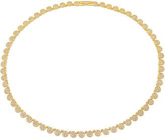 Crislu 18K & Silver Cz Infinity Necklace