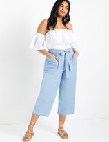 ELOQUII Easy Chambray Pant