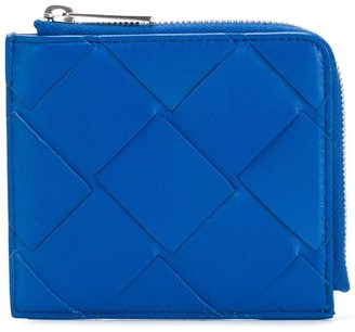 Bottega Veneta Maxi Weave Zip-Around Wallet