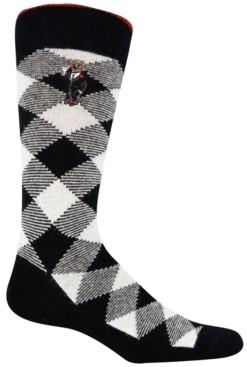 Polo Ralph Lauren Men's Cashmere Buffalo Check Boot Socks