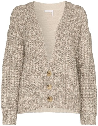See by Chloe Two-Tone Knitted Cardigan