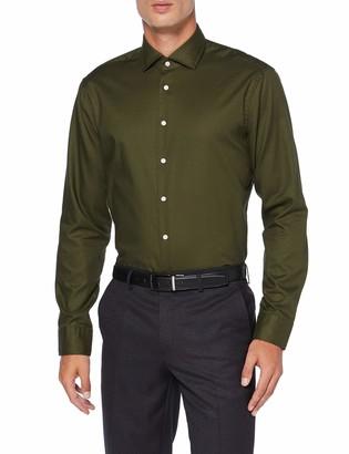Seidensticker Men's Modern Fit Langarm mit Spread Kent-Kragen Bugelleicht Uni-Smart Business by 100% Formal Shirt