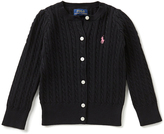 Ralph Lauren Polo Black Cable-Knit Cardigan - Toddler & Girls