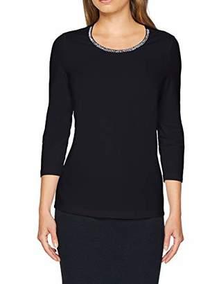 Gerry Weber Women's T-Shirt 3/4 Arm Long Sleeve Top, (White 99700), (Size: 44)