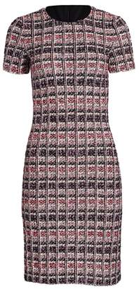 St. John Monarch Textured Tweed Sheath Dress