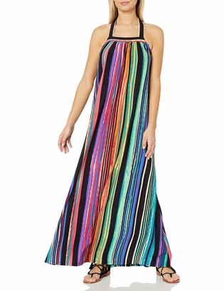 Maggy London Women's Painted Stripe Maxi