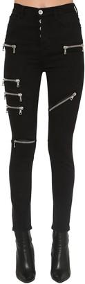 Unravel High Rise Zipped Skinny Leg Jeans