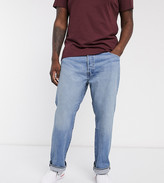 Levi's B&T 501 Original regular fit button fly jeans in baywater mid wash
