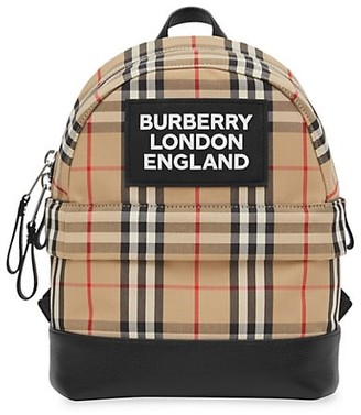 Burberry Small Nico Check Backpack