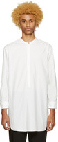 Undecorated Man White Poplin Draped Shirt