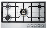 Fisher & Paykel CG905DLPX1 Gas Hob, Stainless Steel