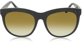 Balenciaga BA0024 04F Black Rubber & Acetate Cat Eye Sunglasses