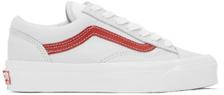 Vans Grey and Red OG Style 36 LX Sneakers