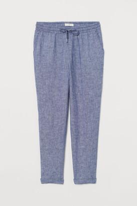 H&M Linen Joggers - Blue