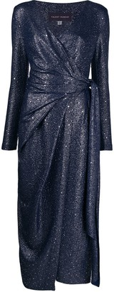 Talbot Runhof Glitter Detail Dress