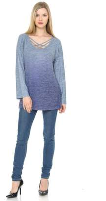 Cubism Criss-Cross Ombre Sweater