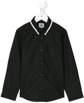 Karl Lagerfeld contrast collar shirt - kids - Cotton - 2 yrs
