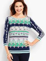 Talbots Floral Tapestry Sweater