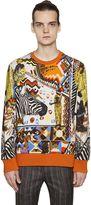 Etro Zebra Printed Cotton Sweatshirt