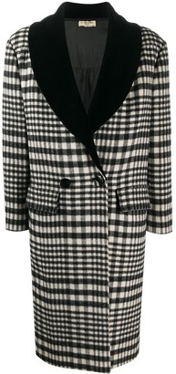 Valentino Pre-Owned 1980s Tartan Double-Breasted Coat